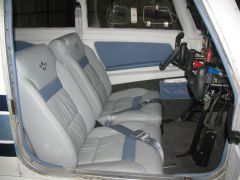 New Aero Comfort interior w/Don Maxwell doing the install.