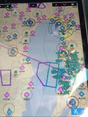 Oshkosh traffic - just a few airplanes