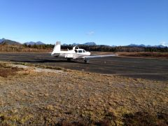 Parked at Tofino Airport.