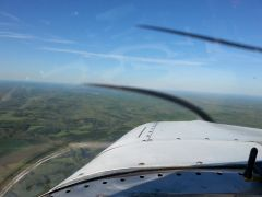 It was a beautiful day to fly in the NC foothills