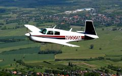 N-9305M flying 10 o'clock view 4
