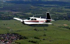 N-9305M flying 10 o'clock view 3