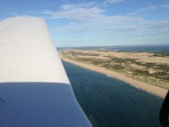 Final approach into Provincetown