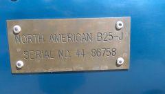 B25 data plate