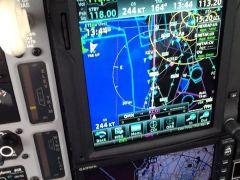 GTN750 showing 244 kts. With slight tail wind