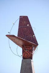 Mooney tail art sculpture