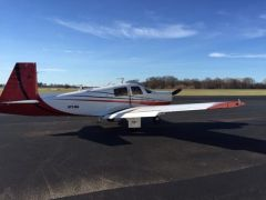 Mooney 1973 M20E...great day to fly