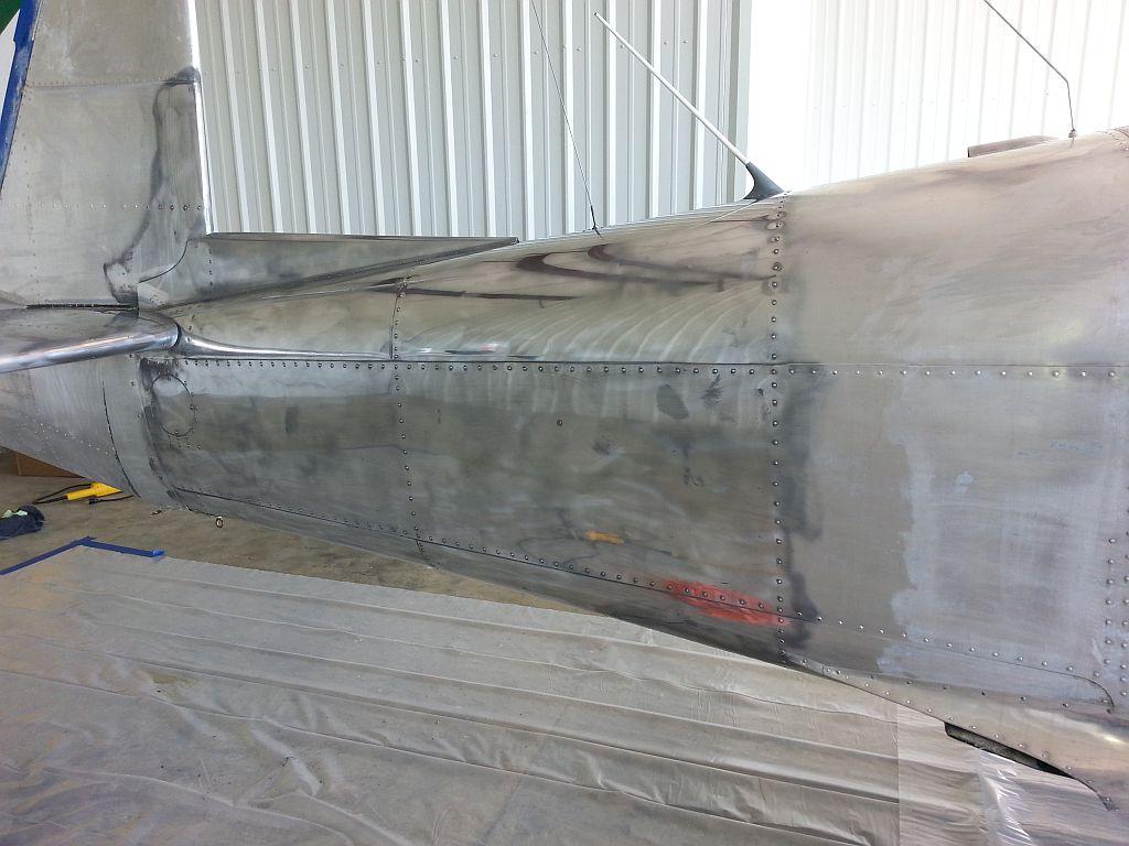 Tried polishing the fuselage