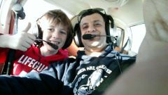 Father & Son flying