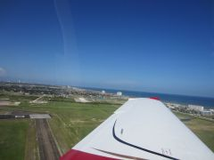 Take off from Galveston