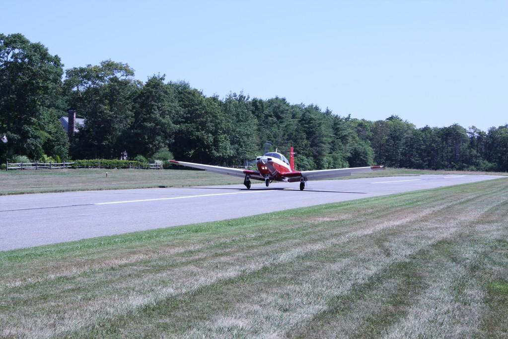 Landing at Falmouth Airpark