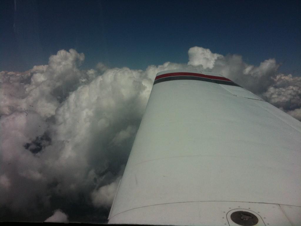 High Cumulus (almost TCU) developing at 8,500