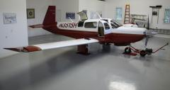 N3515H in the hangar at Falmouth Airpark
