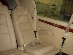 New leather interior by Buchanan Aviation Services in Concord, CA