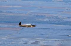 N231BB Northwest of Sutter Butte range