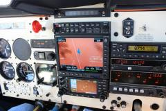 New avionics panel in flight. Installed by Om-Air Avionics in Chico, CA