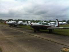 Similar Paint Jobs - N1165N (Seth's Missile) and N1162D (Mike's 231) - VA Festival of Flight 4/29/12
