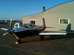 At Flying Cloud, MN (KFCM) just after first solo in the new Missile - October 2011 - Sunset