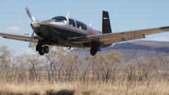 VH-VTC landing at Emma Gorge Western Australia
