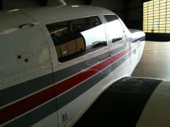 Keeping the Mooney cool from the103 degrees outside!!
