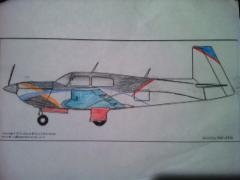 My 7 year olds rendering of his proposed paint scheme, very colorful !