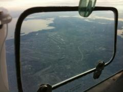 Looking down at CYUL airport in Dorval Quebec (Montreal) at 8,500