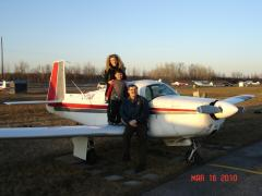 Mommy and the one who just flew for the first time, and the guy who just wants excuses to fly