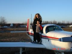 With mommy who flew today too