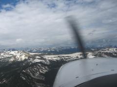 Crossing the ridge to Aspen