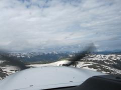 Another shot of crossing the ridge to Aspen