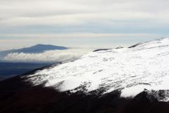 Slopes of Mauna Kea with Hualalai in background.