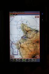 Fujitsu 1620 Tablet with FlightPrep (sectional chart mode)