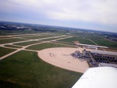 Looking back at Dupage Flight Center and KDPA.