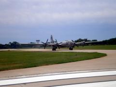 B29 at DuPage Airport.  We were taking 02L for takeoff.