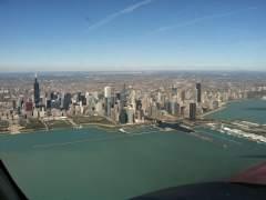 Chicago @ 2500 ft & 185 kts.
