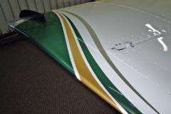 Wingtip 2. Prior to airbrushing of stripes