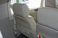 Interior (2) - back of rear seats - seats are easily removable - at time of  photo leather had not yet shrunk - now tight without wrinkles