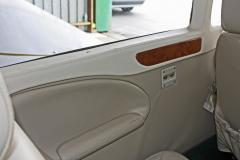 New Interior (3)  Carbon Fiber insets in aircraft honeycomb sidepanels - leather covered window frames - Leather not yet shrunk to tightness at time of photo