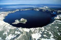 Over Crater Lake in Oregon