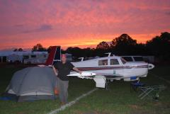 Camping in the vintage area at SNF 2009
