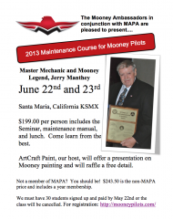 Jerry Manthey Maintenance Seminar June 22 and 23rd