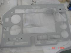 Panel after powder-coating