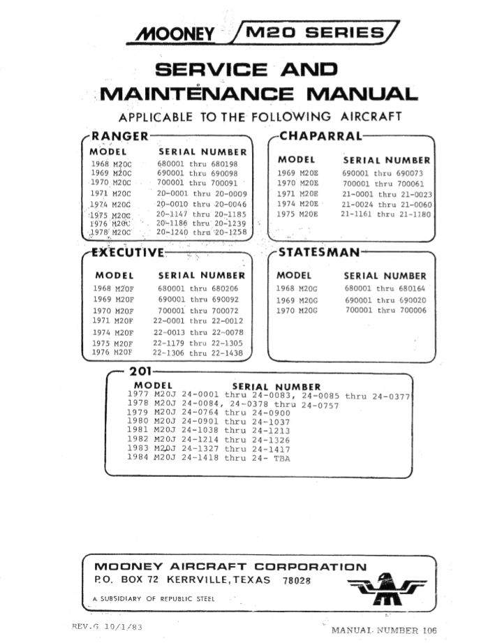 Looking For 1969 M20F Service Manual And IPC Catalog