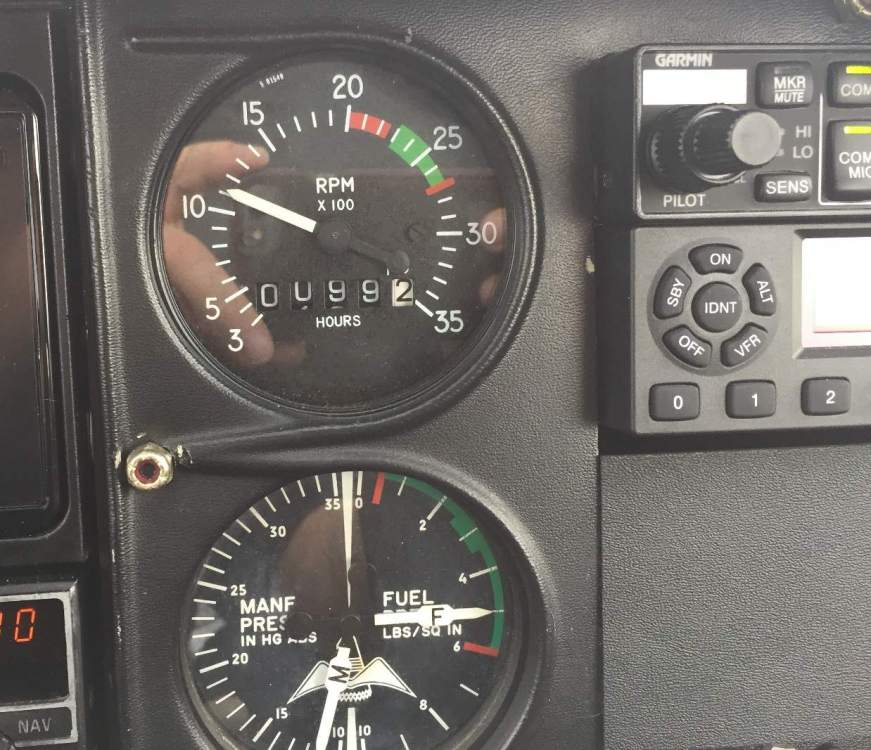Tach and MP-FP just prior to de-installation.JPG